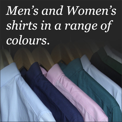 A range of shirts in different colours